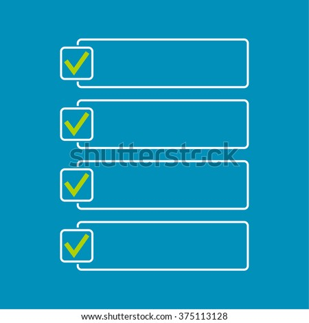 Notebook with to do list. Lines with check boxes. checklist for note. consent. check mark. election and  voting - stock photo