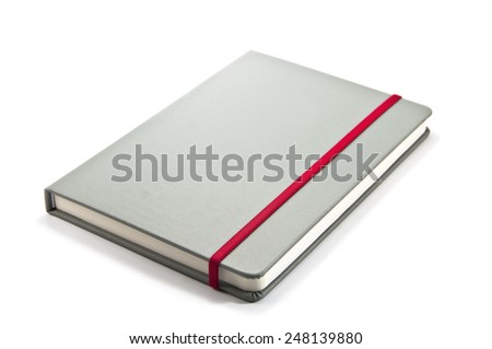 Notebooks cover on white background