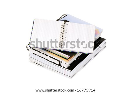 notebooks isolated on a white background - stock photo