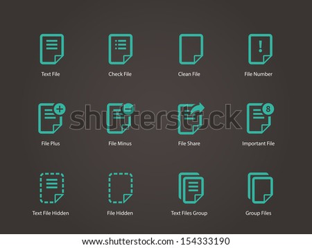 Notepad Document file and Note icons. See also vector version. - stock photo