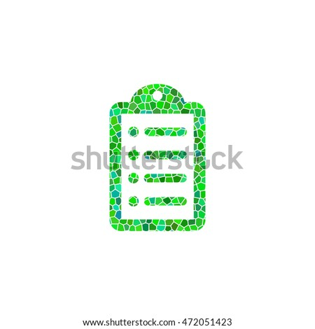 notepad - green  mosaic illustration