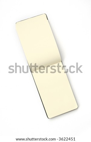 Notepad isolated on white