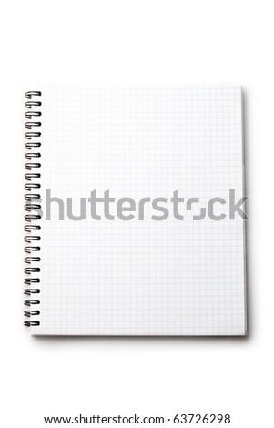 Notepad isolated on white - stock photo