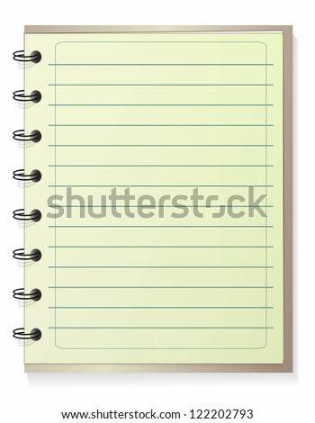 Notepad lined, jpeg version