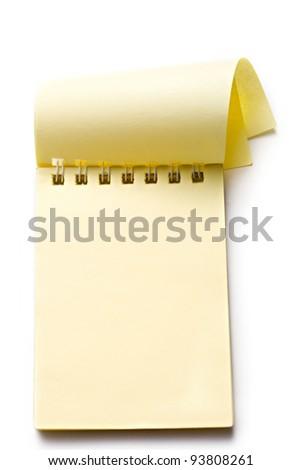 Notepad on the white background - stock photo