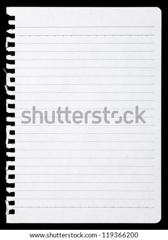 Notepad page - stock photo