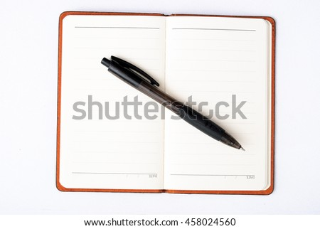 Notebook And Pen Sketch Stock Vector Art More Images Of: Notebook Cartoon Childrens Sketch Daily Log Stock Vector