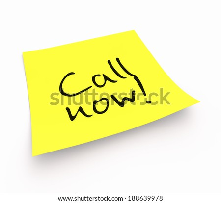 notepaper concept - Call now