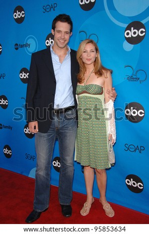 Notes From the Underbelly stars PETER CAMBOR & JENNIFER WESTFELDT at the Disney ABC TV All Star Party at Kidspace in Pasadena. July 19, 2006  Pasadena, CA  2006 Paul Smith / Featureflash - stock photo