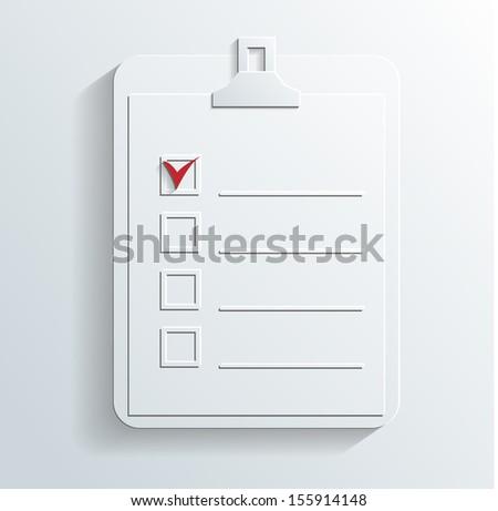notes icon - stock photo