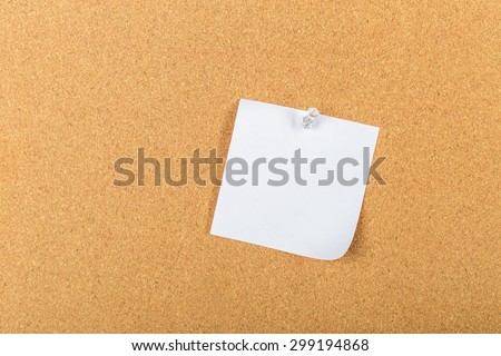 Notes pinned on cork board, reminder - stock photo