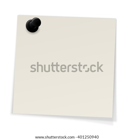 Notes with pin - stock photo