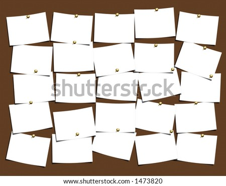 NotesBoard for easy use and populate with your thoughts - stock photo