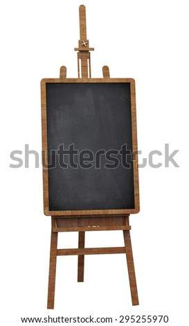 notice board on a wooden easel - stock photo