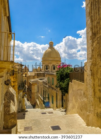 Noto, Sicily, famous for the baroque art
