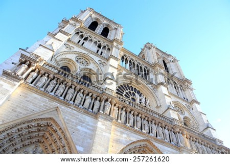 Notre-Dame cathedral of Paris - stock photo