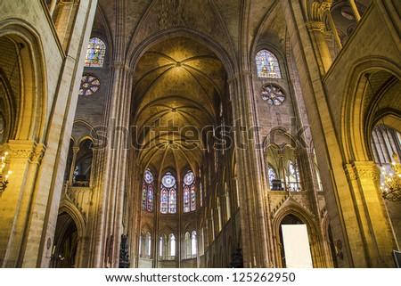 Notre Dame cathedral, Paris - stock photo