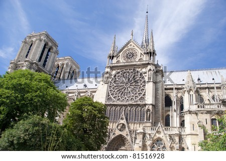 Notre Dame Cathedral-Paris,France. - stock photo