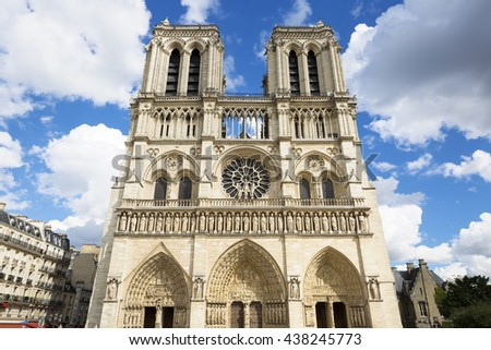 Notre Dame Cathedral - Paris, France, Europe.