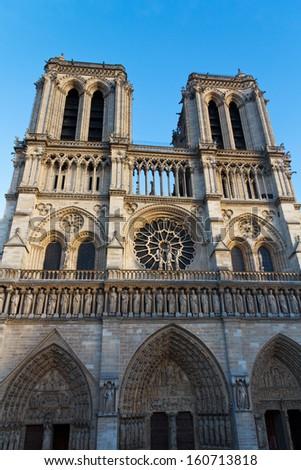 Notre Dame Cathedral, Paris, France. Paris tourist attraction  - stock photo