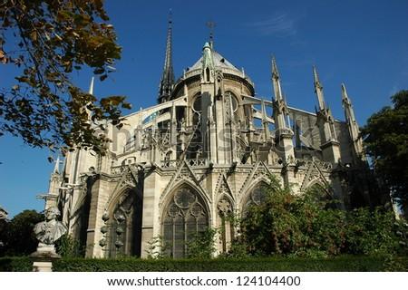 Notre Dame church in Paris - stock photo
