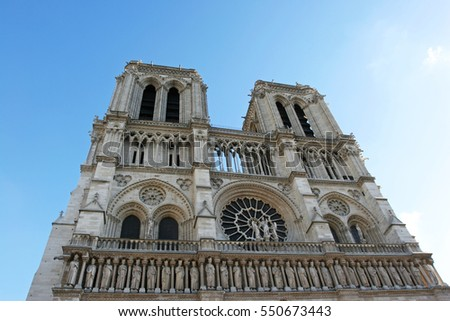 Notre Dame Church in Paris, France