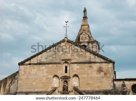 Notre-Dame-de-la-Major church in Arles (Provence, France) - stock photo