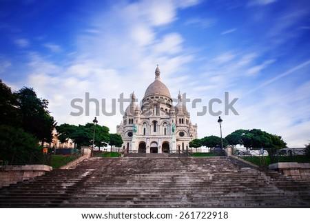 Notre Dame de Paris at early  morning - stock photo