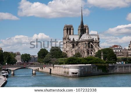 Notre Dame de Paris Cathedral ,Paris - stock photo