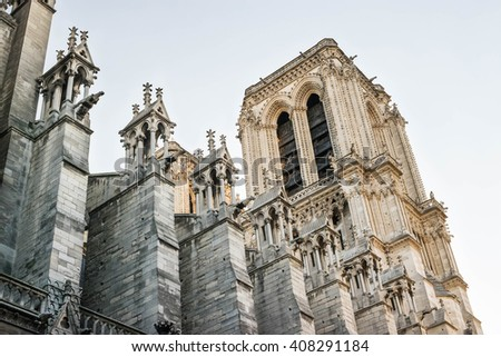 Notre Dame de Paris Cathedral. Paris. France - stock photo