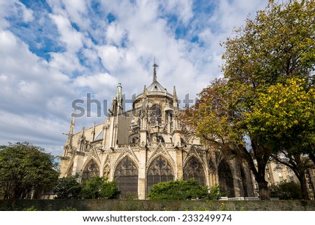 Notre Dame de Paris in France - stock photo