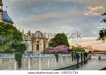 Notre Dame in Paris, France - stock photo