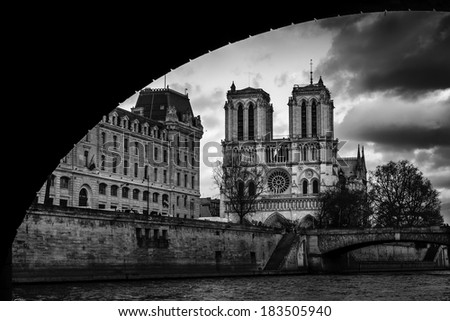 Notre Dame, Paris - stock photo