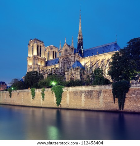 Notre Dame, Paris - France. - stock photo