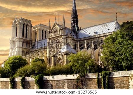 Notre Dame, Paris, France - stock photo