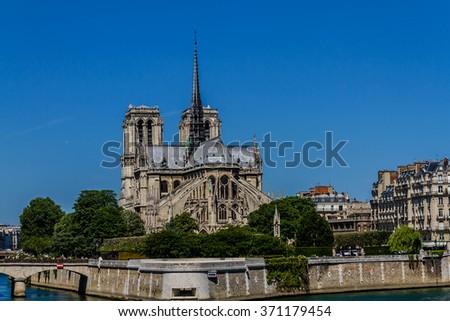 Notre Dame. Paris, France. - stock photo