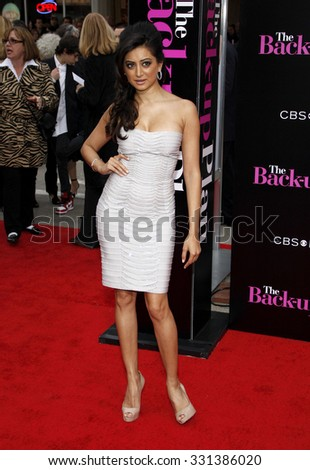 """Noureen DeWulf at the Los Angeles premiere of """"The Back-Up Plan"""" held at the Westwood Village Theater in Hollywood, USA on April 21, 2010. - stock photo"""