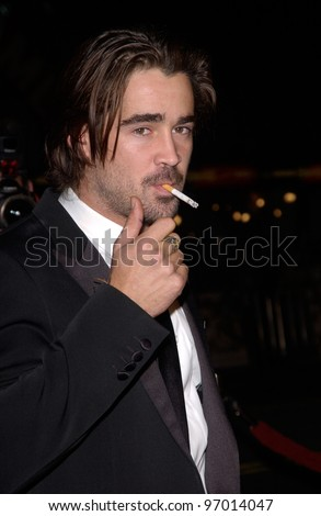 Nov 16, 2004; Los Angeles, CA: Actor COLIN FARRELL at the world premiere, in Hollywood, of his new movie Alexander.