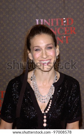 Nov 8, 2004; Los Angeles, CA; Actress SARAH JESSICA PARKER at the Louis Vuitton United Cancer Front Gala at Universal Studios, California. - stock photo