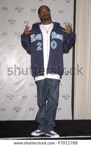 Nov 14, 2004; Los Angeles, CA: SNOOP DOGG at the 32nd Annual American Music Awards at the Shrine Auditorium, Los Angeles, CA. - stock photo