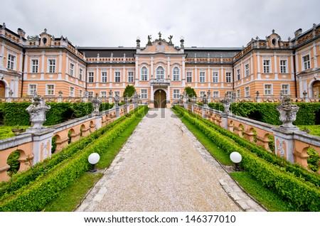 Nove Hrady palace in Czech Republic - stock photo