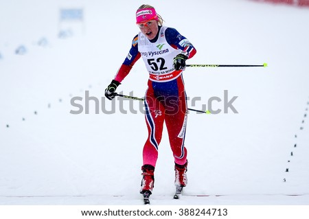 Nove Mesto na Morave, Czech Republic - January 23, 2016: FIS Cross Country World Cup, women distance 10km competition. HAGA Ragnhild (52)