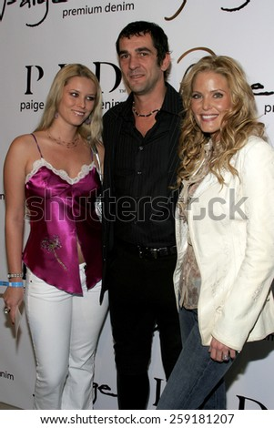 November 17, 2005 - Beverly Hills - Kiera Chaplin, Ale De Basseville and Paige Adams-Geller at the Paige Premium Denim Party at the Paige Premium Denim Flagship Store in Beverly Hills, United States.