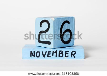 november 26, day on the calendar - stock photo