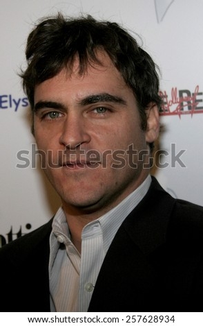 "November 30, 2005 - Hollywood - Joaquin Phoenix at The Art of Elysium Presents Russel Young ""fame, shame and the realm of possibility"" at the Minotti Los Angeles in West Hollywood, United States."