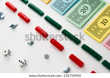 November 14, 2014.  Houston, TX, USA.  Illustrative Editorial.  Monopoly board game - stock photo