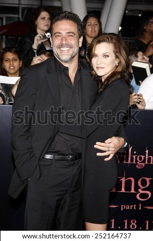 "NOVEMBER 14: Jeffrey Dean Morgan at the Los Angeles Premiere of ""The Twilight Saga: Breaking Dawn Part 1"" held at the Nokia Theatre L.A. Live in Los Angeles, USA on November 14, 2011."