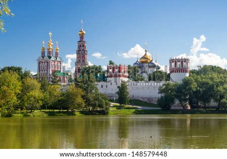 Novodevichy convent in Moscow, Russia - stock photo