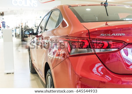 Novokuznetsk, Russia - April 19, 2017: Hyundai Accent (Solaris) back view
