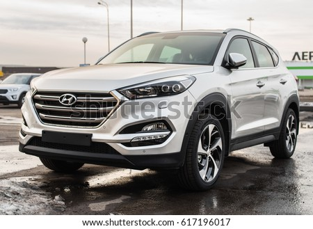 Novokuznetsk, Russia - March 30, 2017: Hyundai Tucson